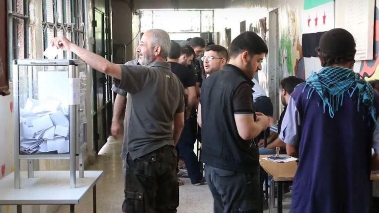 Gemeenteraadsverkiezingen in Harasta. Beeld