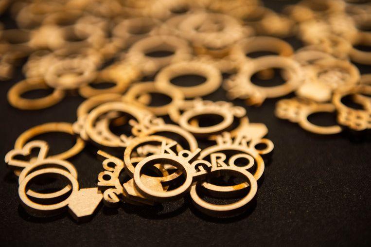 De ringen van The wedding chapel van de KdG hogeschool.