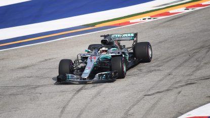 Hamilton pakt de pole in Singapore, Vandoorne kan lijn van oefensessies niet doortrekken en start vanaf 18de plaats