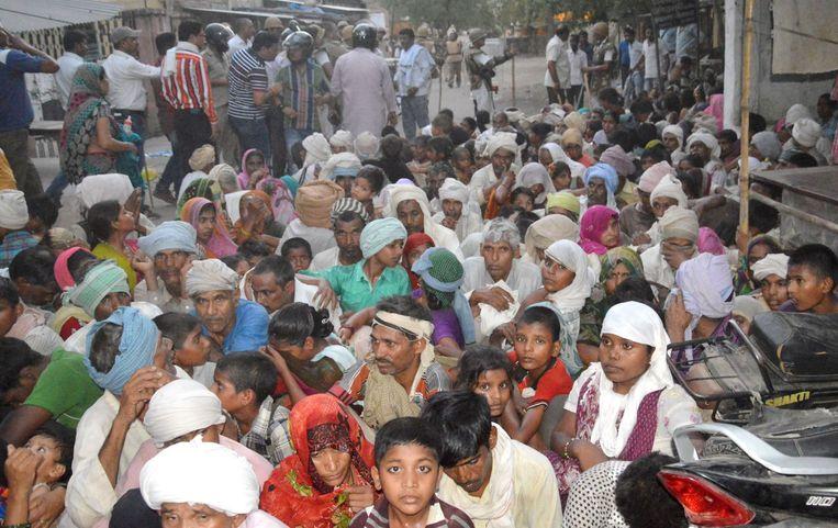 Volgelingen van de politieke activist Subhash Chandra Bose hielden het park meer dan twee jaar bezet. Beeld afp
