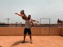 Robin en Manon in Marrakech.