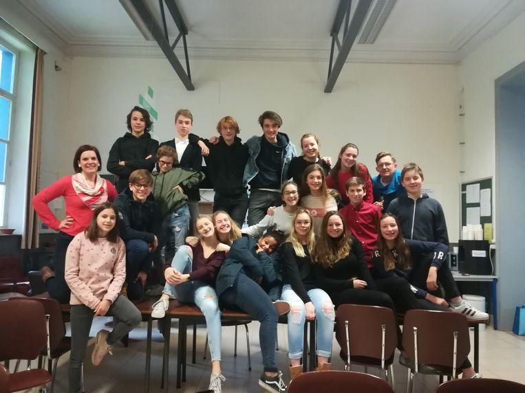 Leerlingen van DvM Humaniora.