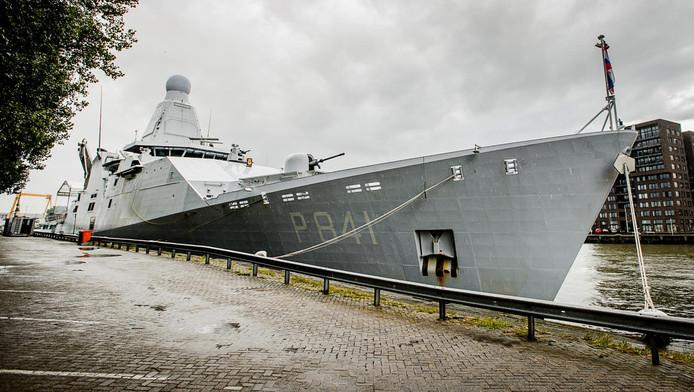Een marineschip, foto ter illustratie.