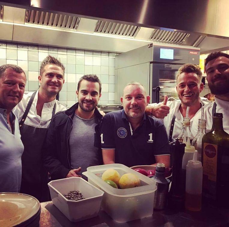 """De Spaanse sterrenchef Albert Adria (m.) kwam enkele weken geleden eten in restaurant Lewis van Thomas Snijders. """"We waren enorm vereerd."""""""