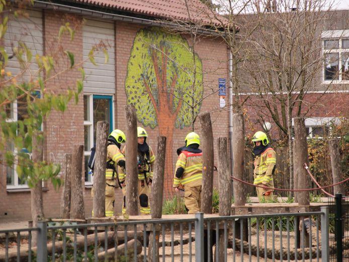 Brand bij basisschool De Bron.