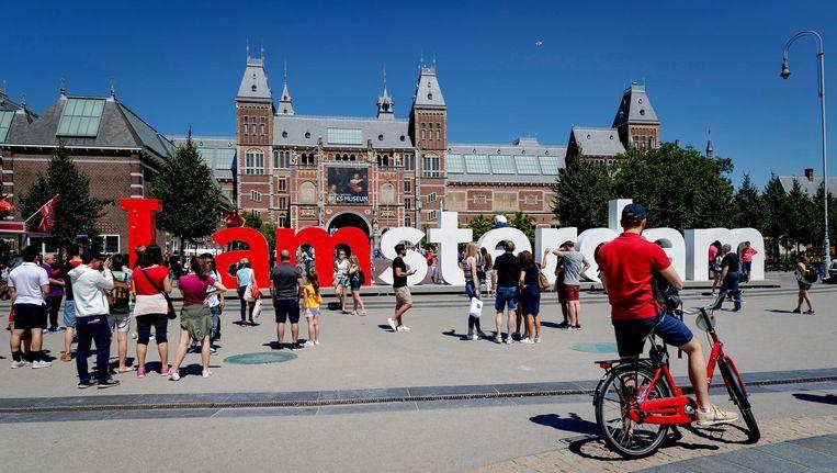 Het I amsterdam-logo op het Museumplein Beeld ANP