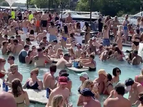 Verbijstering om massale opeenhoping vakantiegangers bij populair meer VS