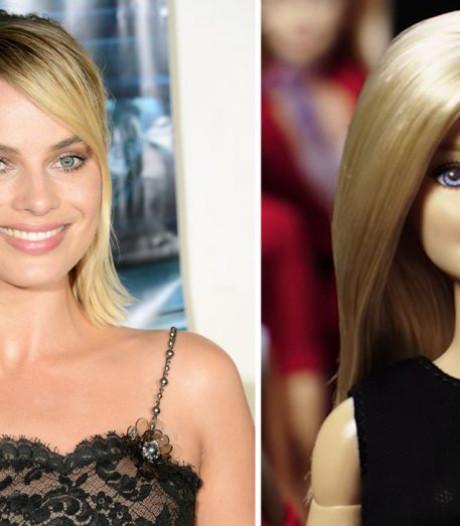 Actrice Margot Robbie in beeld voor Barbie-film