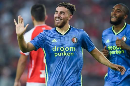 Orkun Kökcü opende vlak na rust de score voor Feyenoord.