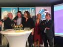 Enkele lijsttrekkers op een rij: Johan Swaans (VVD), Bert Schellekens (LRG), Marijo Immink (PAG), Pernell Criens (PvdA) en Piet Verheijen (D66).