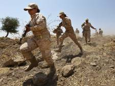 Peshmerga's met wapens op weg naar Kobani