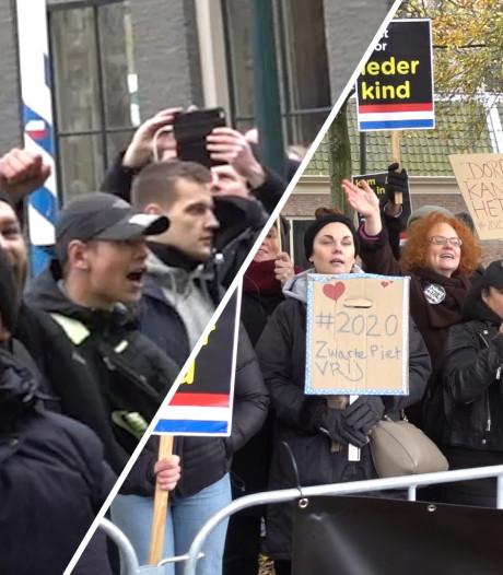 Zo zag de demonstratie tegen Zwarte Piet eruit tijdens de intocht van Dordrecht