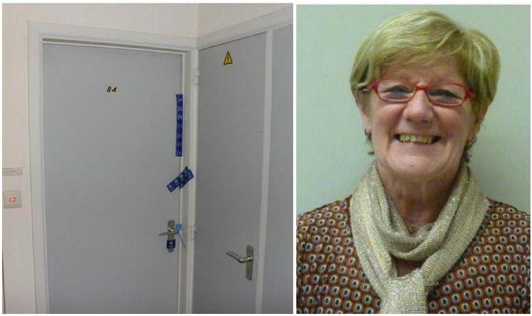 Het appartement van slachtoffer Miriam Van Poel werd na de feiten verzegeld.