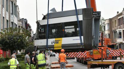 Gecrashte tram getakeld, bewoners mogen terug naar huis