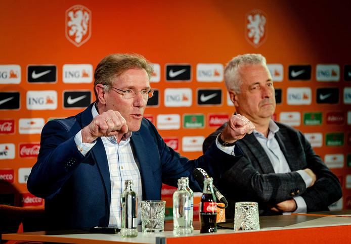 Hans van Breukelen als technisch directeur van de KNVB in 2017.