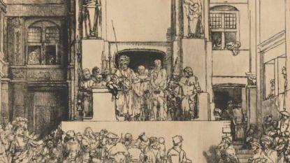Ets van Rembrandt geveild voor 3 miljoen euro