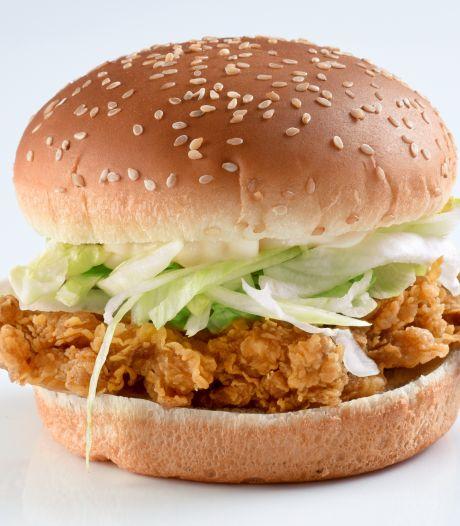 KFC kon natuurlijk niet achterblijven en start proef met chickenburger zonder kip