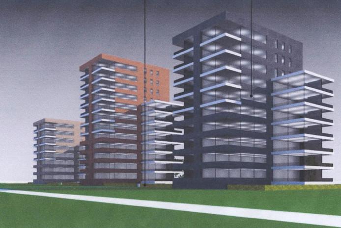 Aannemingsbedrijf Van der Poel heeft een aangepast plan gemaakt voor de torens in Pattistpark.
