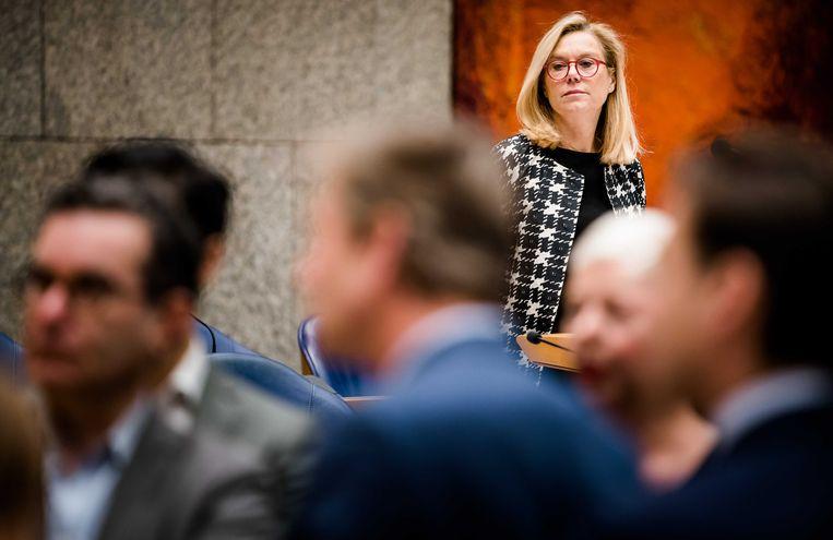 Minister Sigrid Kaag tijdens het debat over CETA. Beeld null