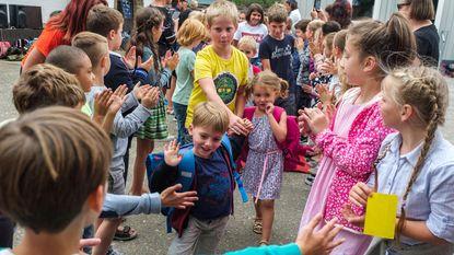Erehaag voor nieuwe leerlingen De Klinker