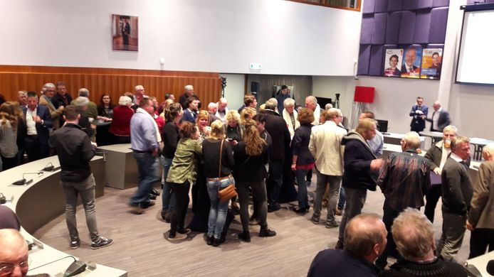 Verkiezingsbijeenkomst in het gemeentehuis van Laarbeek.