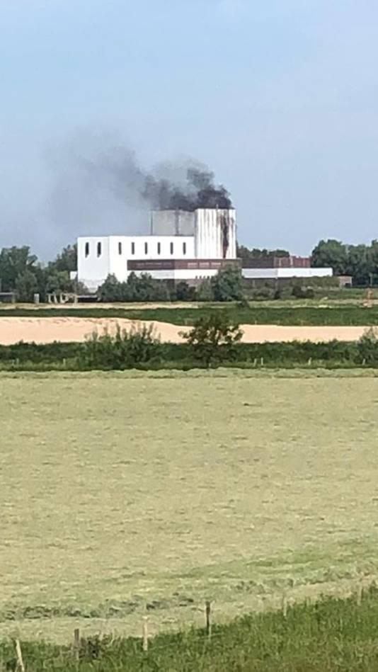 De brand bij de centrale in Dodewaard.