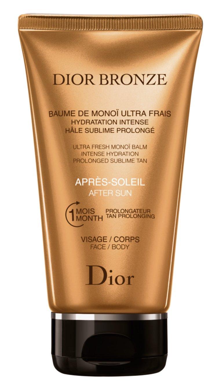 Een balsem om je huid in de watten te leggen na een zonnebad met de heerlijke geur van monoï. After Sun Ultra Fresh Monoï Balm van Dior € 40,16 in de parfumerie