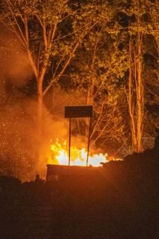 Brand in afvalcontainer zorgt voor veel rook in Alphen