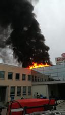 De brand zag er spectaculairder uit dan ze werkelijk was.