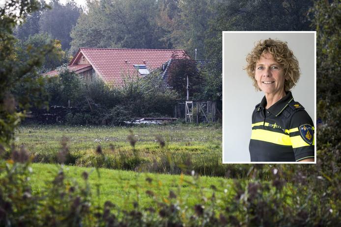 De boerderij in Ruinerwold. Inzet: Janny Knol, politiechef Noord-Nederland.