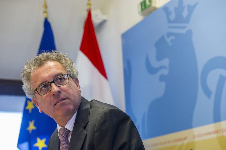 De minister van financiën van Luxemburg Pierre Gramegna. Beeld epa