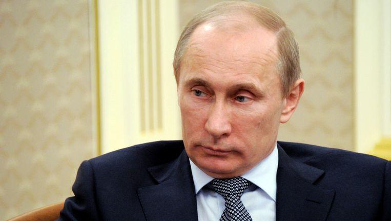 De Russische premier Vladimir Poetin. Beeld ap