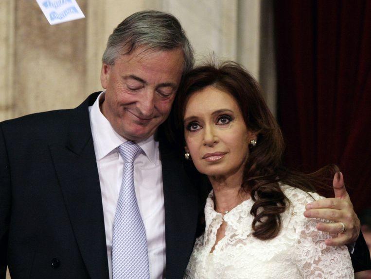 Cristina Kirchner en haar man Nestor in 2007. Beeld REUTERS