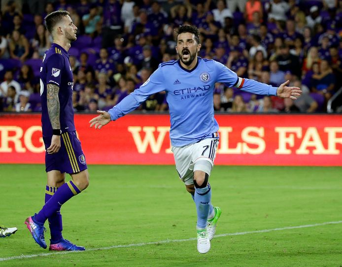 David Villa in 2017 als spits van New York City FC.