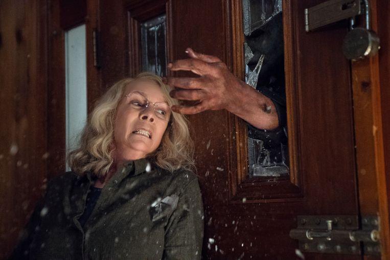 Actrice Jamie Lee Curtis in 'Halloween'.