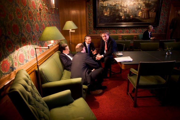 Debat in de Eerste Kamer inzake de wijziging in de Grondwet om een gekozen burgemeester mogelijk te maken, 22 maart 2005. Beeld Martijn Beekman
