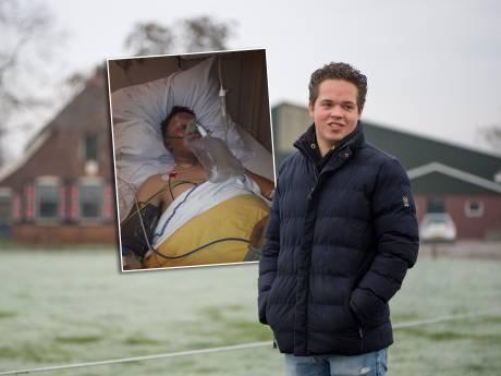 Na heftig ongeval hoeft carbid niet meer voor Rick (19): 'Met een pincet haalden ze de carbid uit mijn ogen'