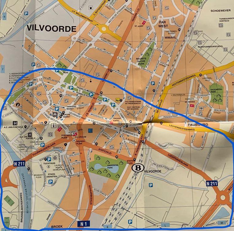 Oproep om camerabeelden te bekijken in de blauwe zone tussen 3.30 uur en de ochtend van 1 januari 2020.