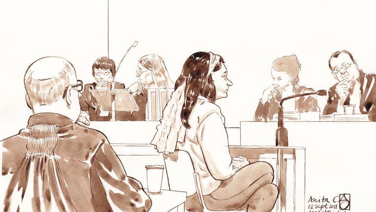 Anita C. in de rechtszaal. Beeld ANP