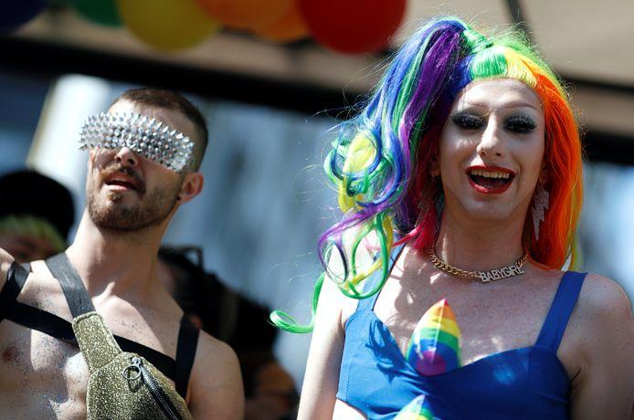 Deelnemers aan de Pride van Berlijn.