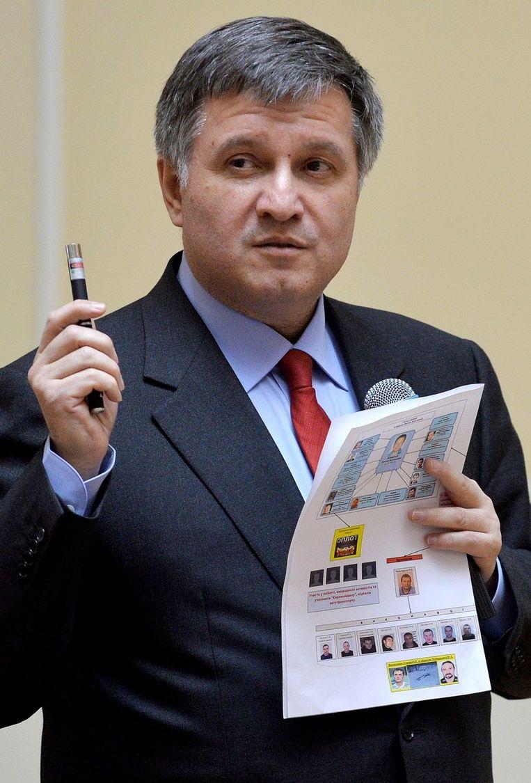 Oekraïens interimminister van Binnenlandse Zaken Arsen Avakov.