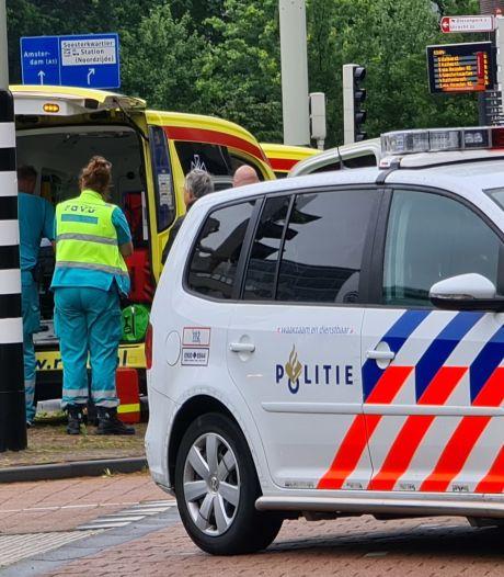 Fietsster met spoed naar het ziekenhuis door val op de Stadsring