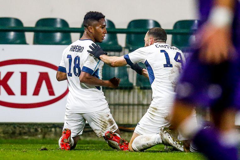 Ribeiro viert zijn goal tegen Beerschot;