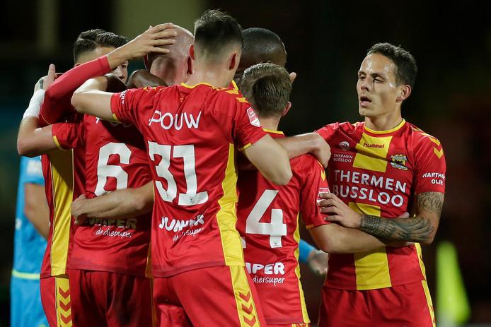 Elmo Lieftink heeft Go Ahead Eagles op 1-0 gezet tegen FC Volendam