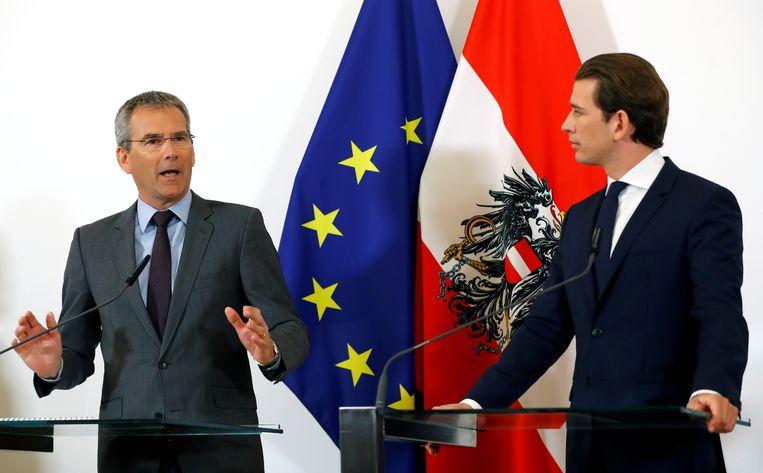 Hartwig Löger en Sebastian Kurz.