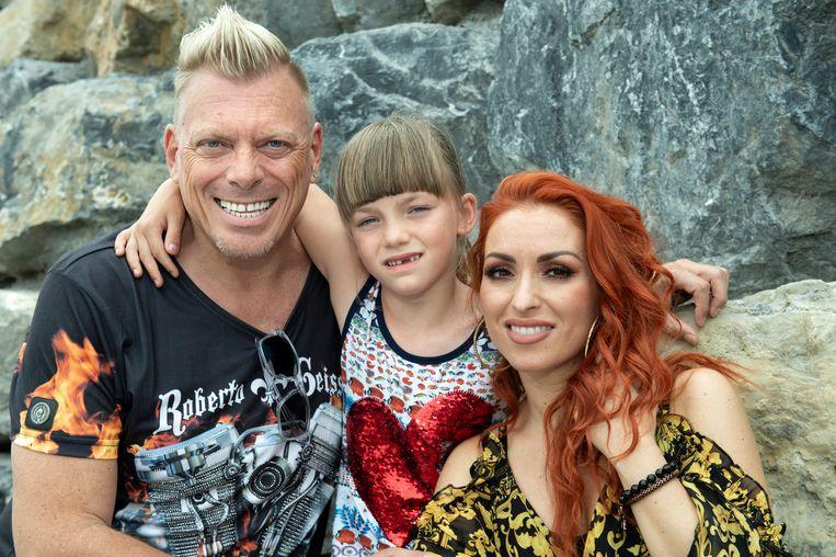 Pairi Daiza - Loredana en partner Pat Krimson en dochter Troy