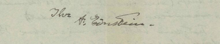 Einsteins handtekening. Beeld Reuters