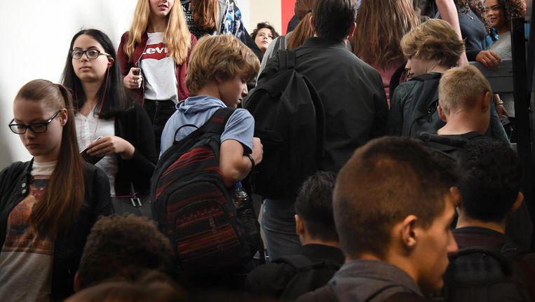 Archiefbeeld van een middelbare school. Beeld Marcel van den Bergh / de Volkskrant