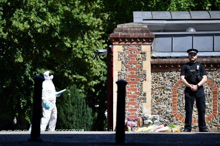 Forbury Gardens in Reading, de plek waar Khairi Saadallah  drie mannen doodstak. Beeld AFP