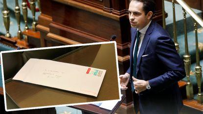 Opnieuw poederbrieven verstuurd naar Vlaams Belang, ook voorzitter Tom Van Grieken ontvangt exemplaar